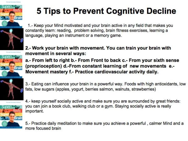 Tips to Prevent Cognitive Decline and achieve greater health