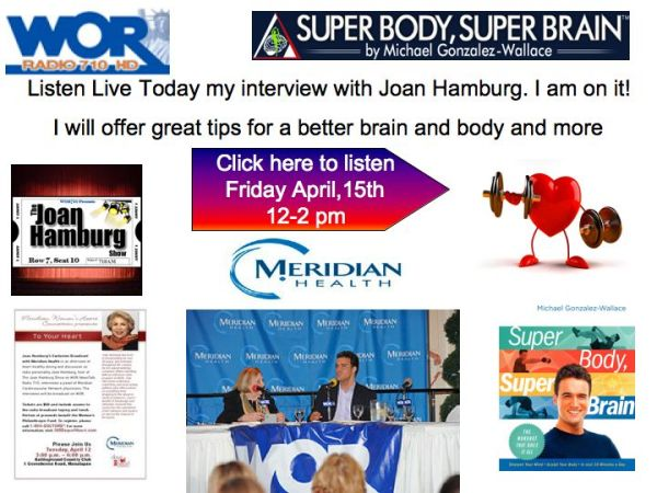 Joan Hamburg interviews Michael Gonzalez-Wallace author of Super Body, Super Brain