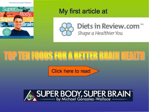 TOP TEN FOODS FOR A BETTER BRAIN HEALTH