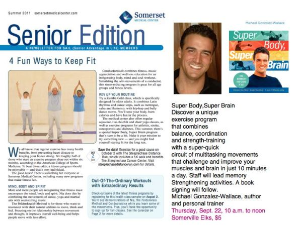 Sommerset Medical Center features Michael Gonzalez-Wallace author of Super Body, Super Brain
