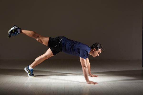 Advanced Core Move: Push Ups plus leg raise by Michael Gonzalez-Wallace from Bodysmart