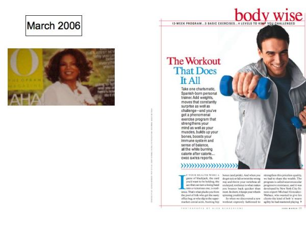 Oprah,.com features Michael Gonzalez-Wallace Author of Super Body, Super Brain