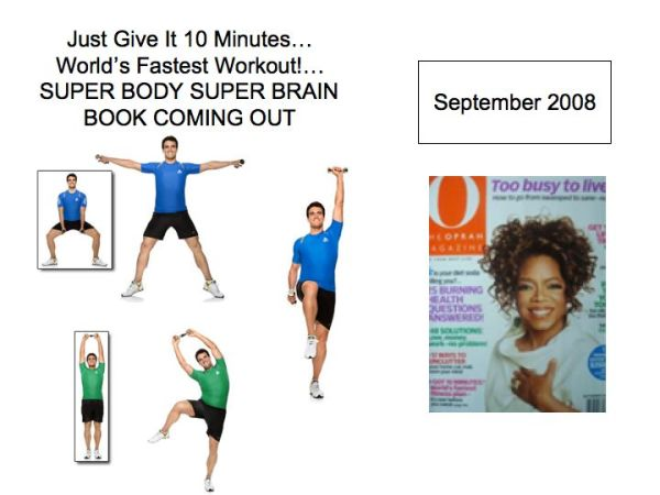 "Oprah Magazine features ""The world's fastest workout"" by Michael Gonzalez-Wallace author of Super Body, Super Brain"