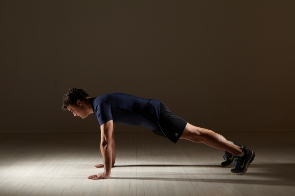 Core Squats with jumps