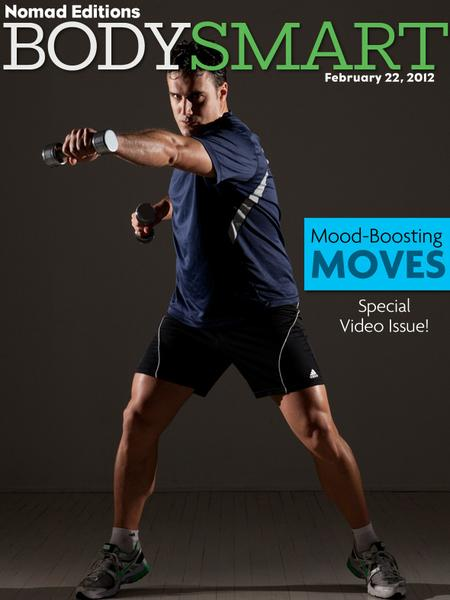 Michael Gonzalez-Wallace  first Fitness Cover. Michael Gonzalez-Wallace writes about The Emotional Brain and Exercise