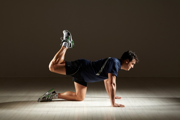 MIchael Gonzalez-Wallace-Hamstrings workout with push up