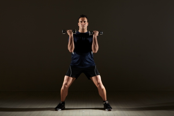 "Jumping Jacks with Bicep Curls. Michael Gonzalez-Wallace shows this week ""Bice Jacks"" a movement that will help you gain strength in your arms, legs and  heart and lets not forget the brain!"