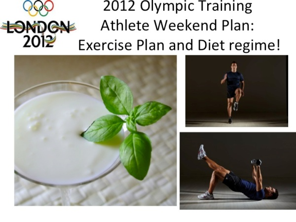 London Olympics athletic training plan