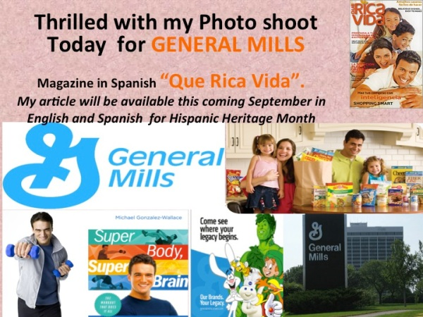 "General Mills and its Magazine ""Que Rica Vida"" will feature Michael Gonzalez-Wallace in September's heritage Month"