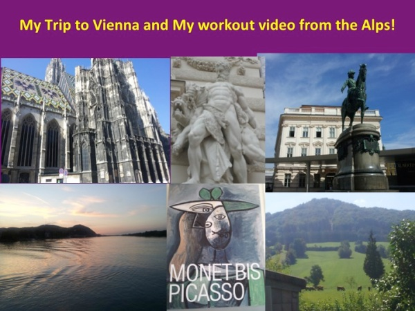 Trip to Vienna and my Workout Video from the Alps