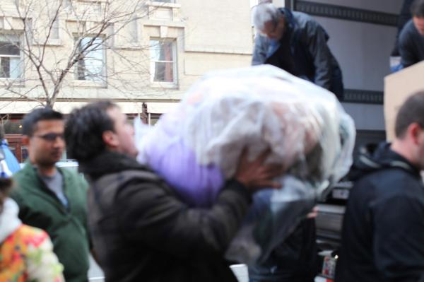 Michael Gonzalez-Wallace participating in the Hurricane Sandy relief in New York City