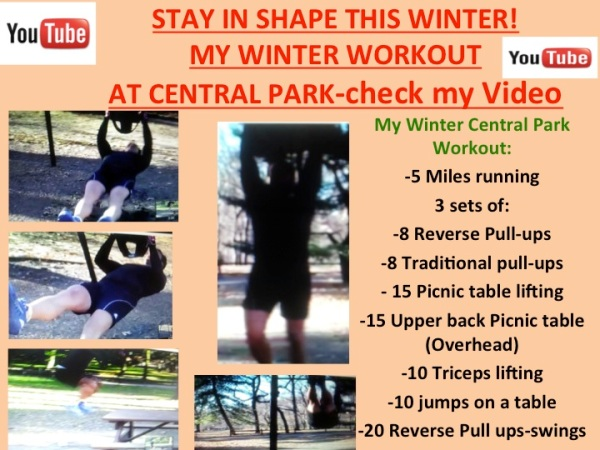 Central Park Winter Workout