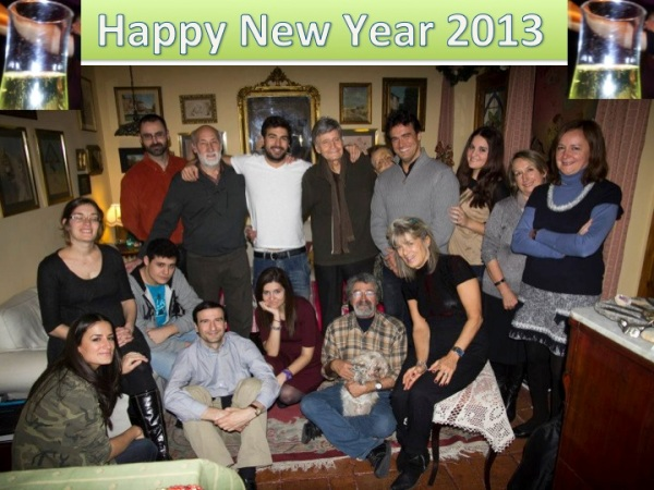 Michael Gonzalez-Wallace with his family in Spain wishes you a Happy New Year