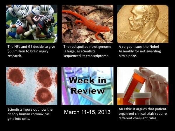 The Scientist: week in review